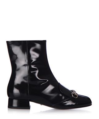 80fa4845e3c Black leather ankle boots Sale - Gucci Sale