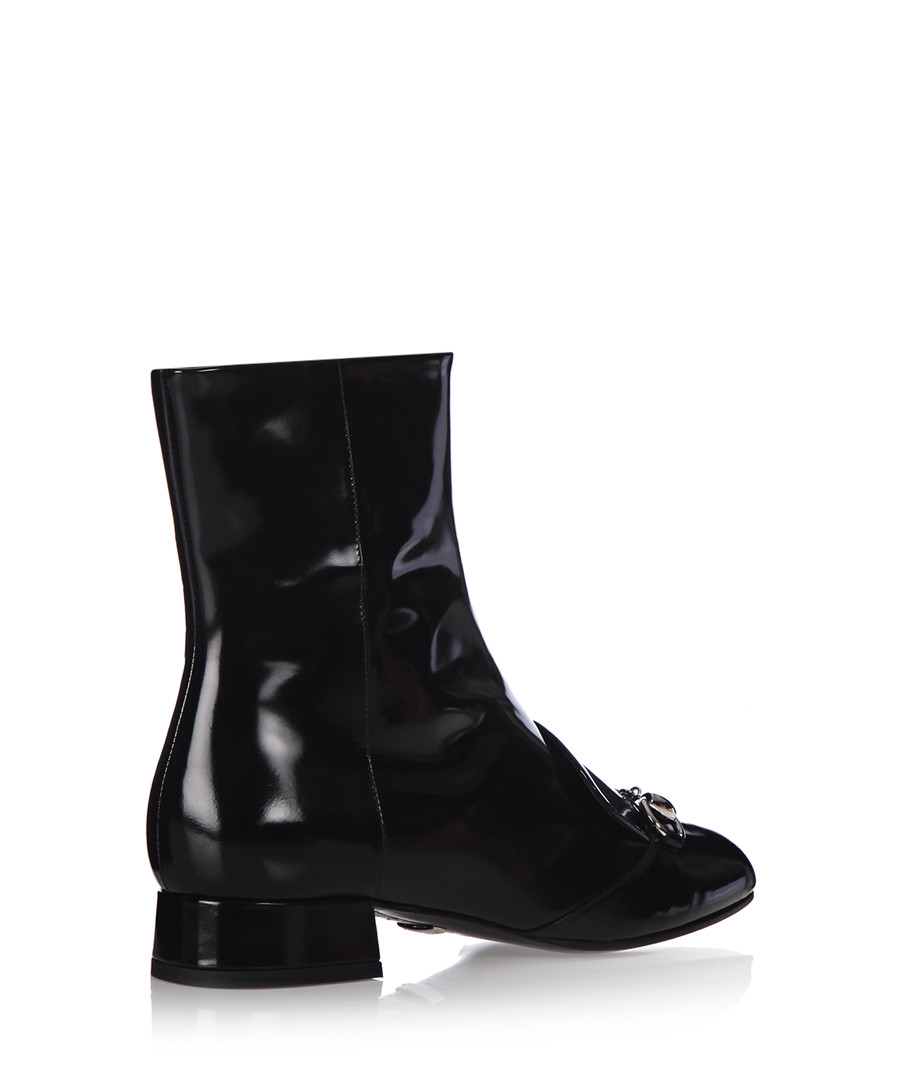 discount s black leather ankle boots secretsales