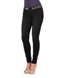 Chrissy black cotton studded jeans