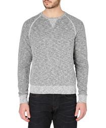 Black & white cotton blend sweatshirt