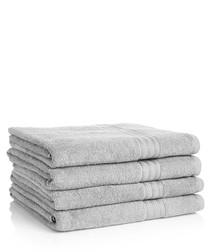 Image of 4pc silver Egyptian cotton bath sheets