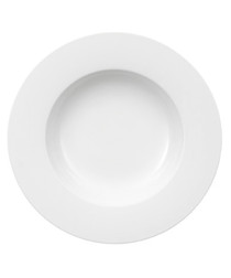 Image of Royal white porcelain pasta plate