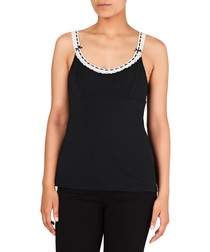 Daisy Chains jet cotton blend camisole