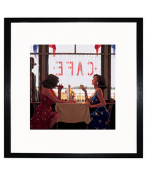 Cafe Days framed print