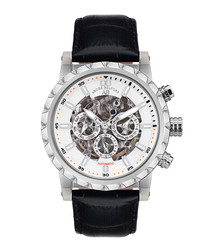 Conquete Stahl silver-tone watch