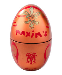 Image of Red & copper-tone chocolate-filled egg