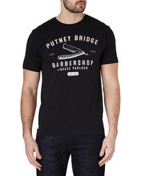 Black pure cotton T-shirt