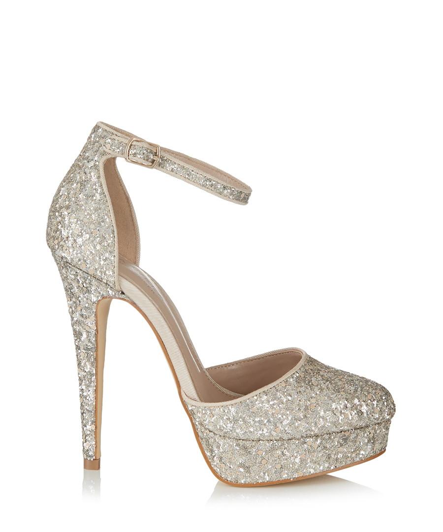 50-70%off classic fit color brilliancy Discount Katy silver glitter high heels | SECRETSALES