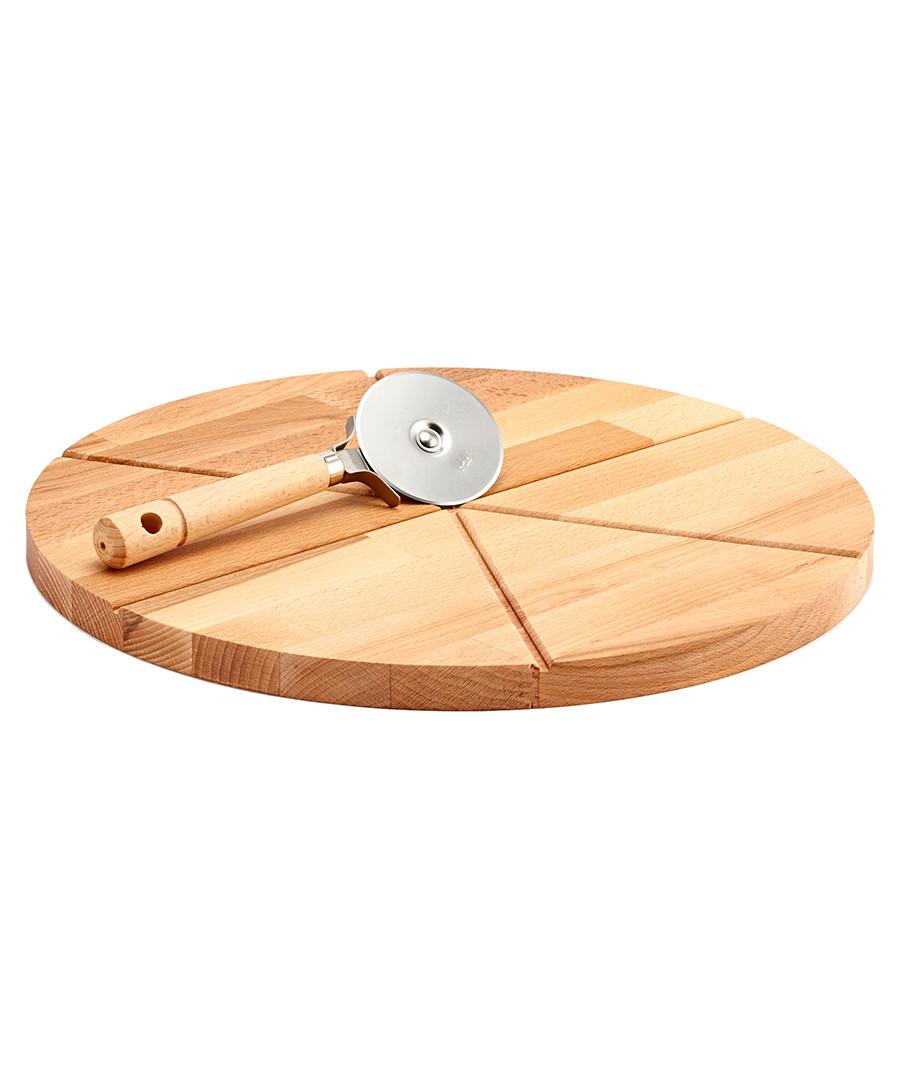 discount round beech wood pizza cutting board secretsales. Black Bedroom Furniture Sets. Home Design Ideas