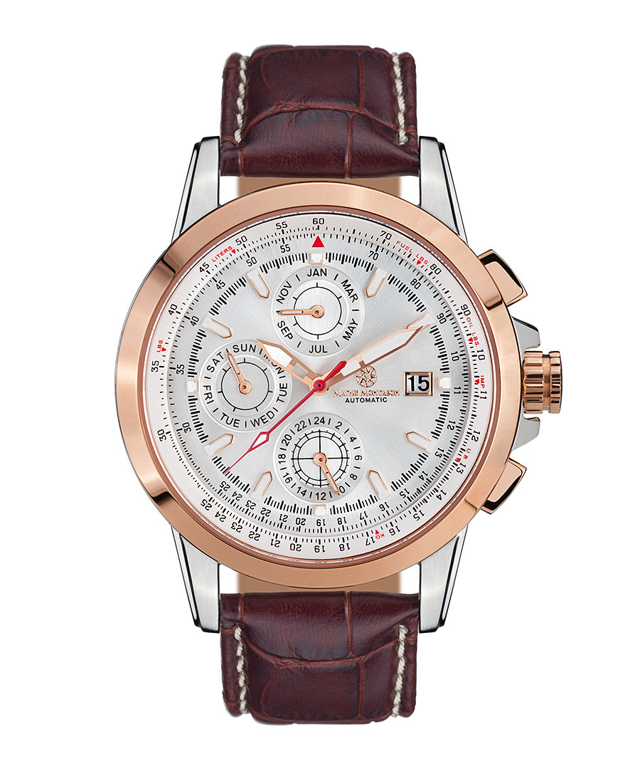 Aerotime brown leather watch Sale - mathis montabon