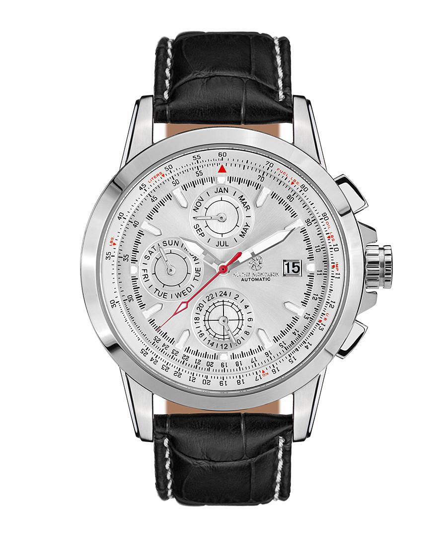 Aerotime steel & leather watch Sale - mathis montabon