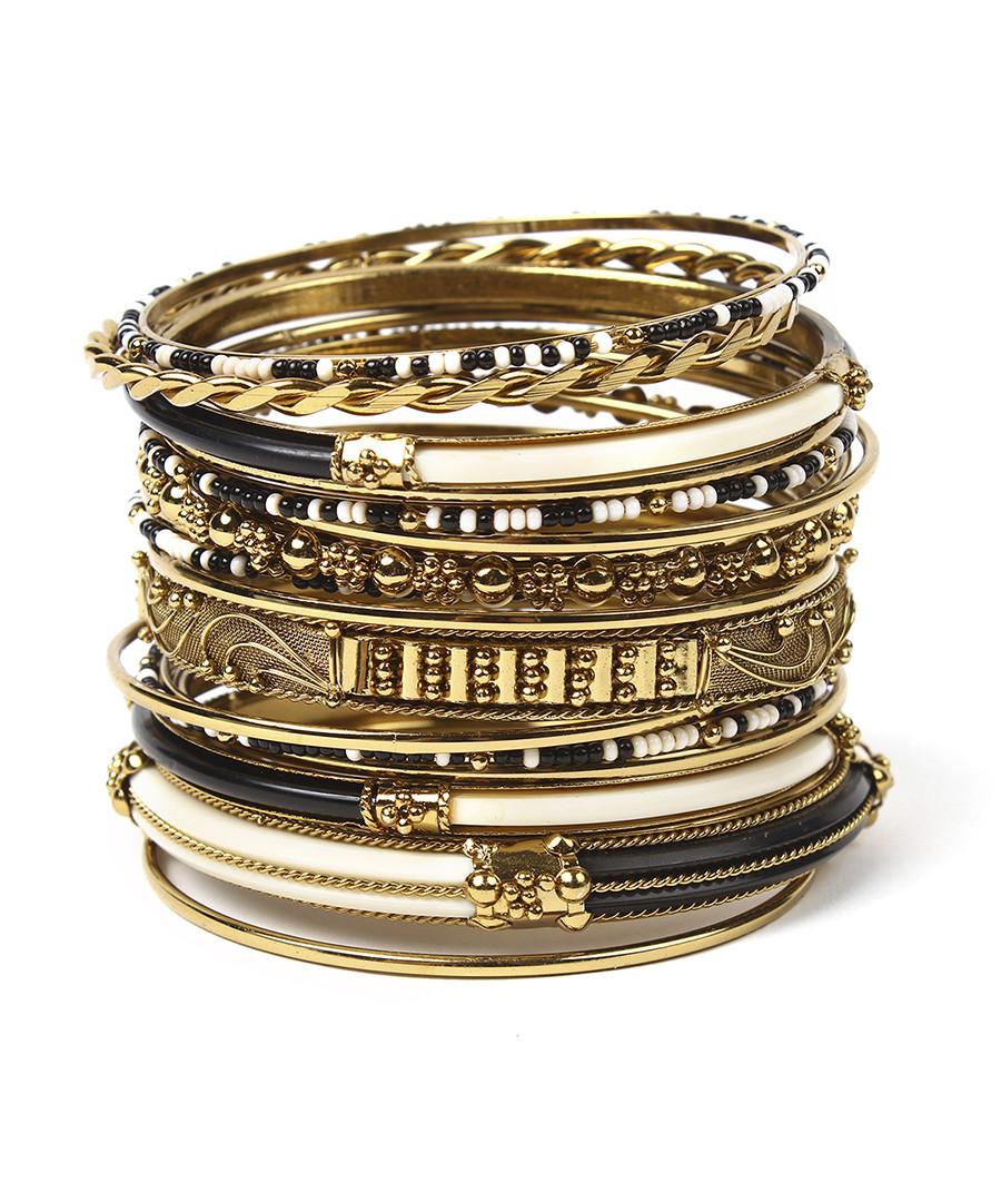 18pc Monaco black & ivory bangle set Sale - amrita singh