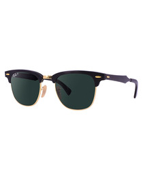 Clubmaster black polarised sunglasses