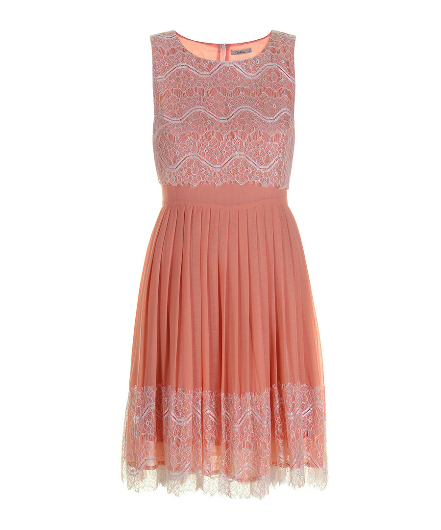 Reese nude lace pleated dress Sale - Darling