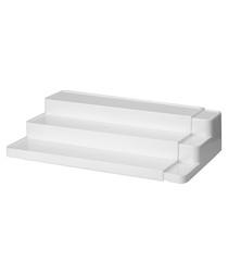 Image of White adjustable three level shelf