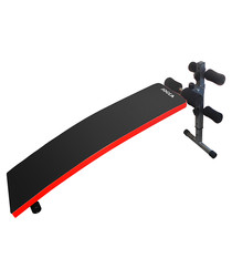 Image of Black & red abdominal bench