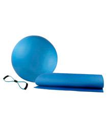 Image of 3pc blue pilates & yoga set
