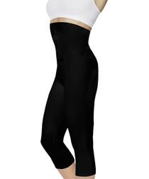 Image of Black medium sauna-effect leggings
