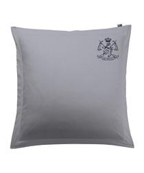 Image of Sarga blue cotton square pillowcase