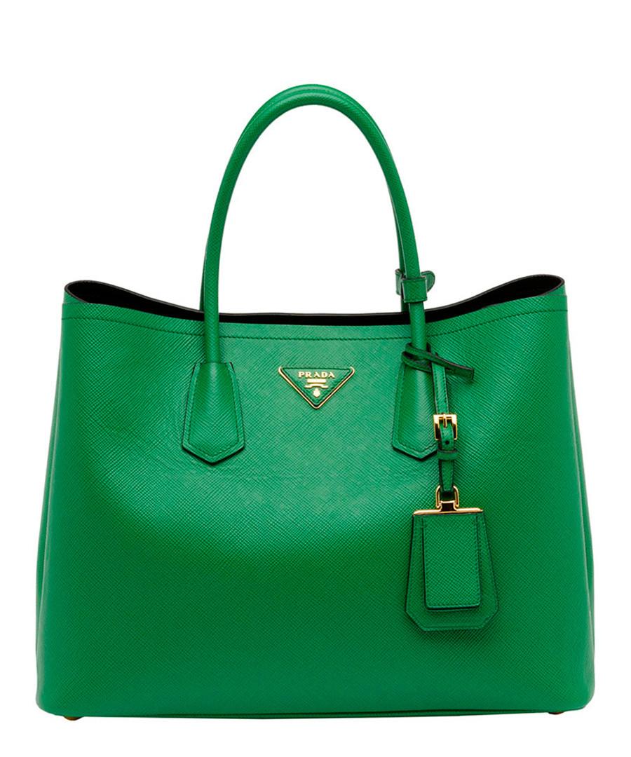 Green Saffiano leather tote Sale - Prada
