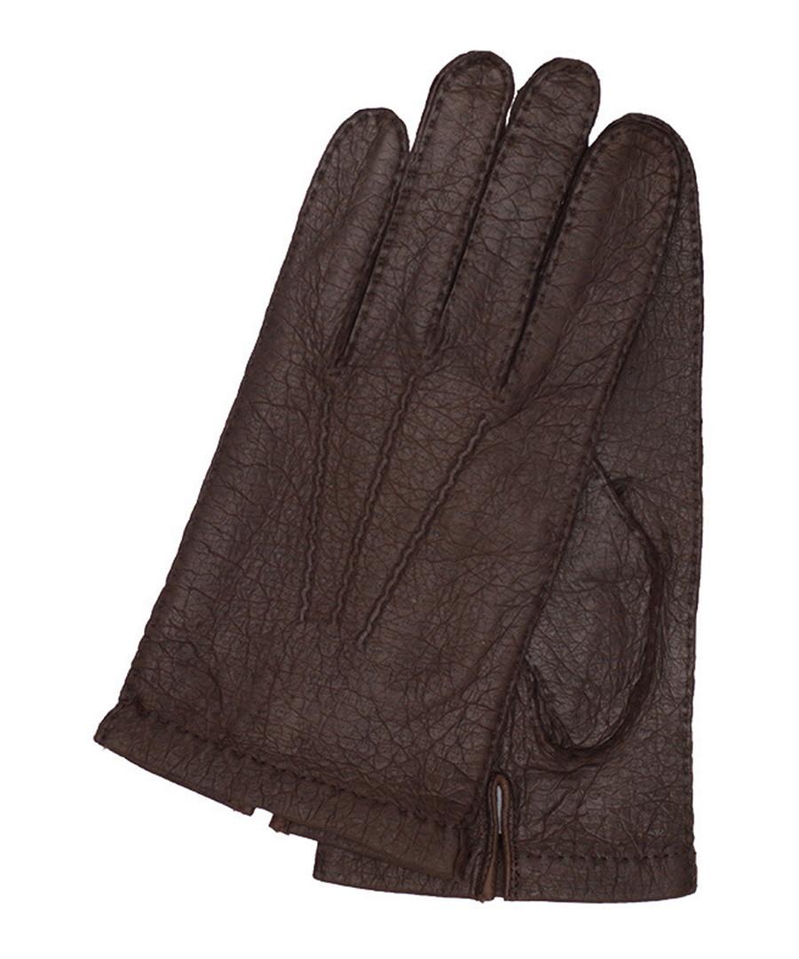 bf1d1d0c9e892 Discount Kastor brown unlined leather gloves   SECRETSALES