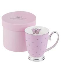 Miss Darcy rose pink china bird mug