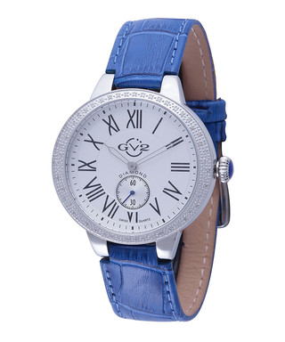 48d112b4927 Astor blue leather strap watch Sale - gv2 Sale