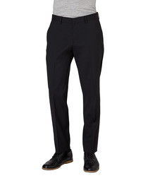 Gibson black wool blend classic trousers