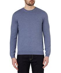 Blue pure wool jumper