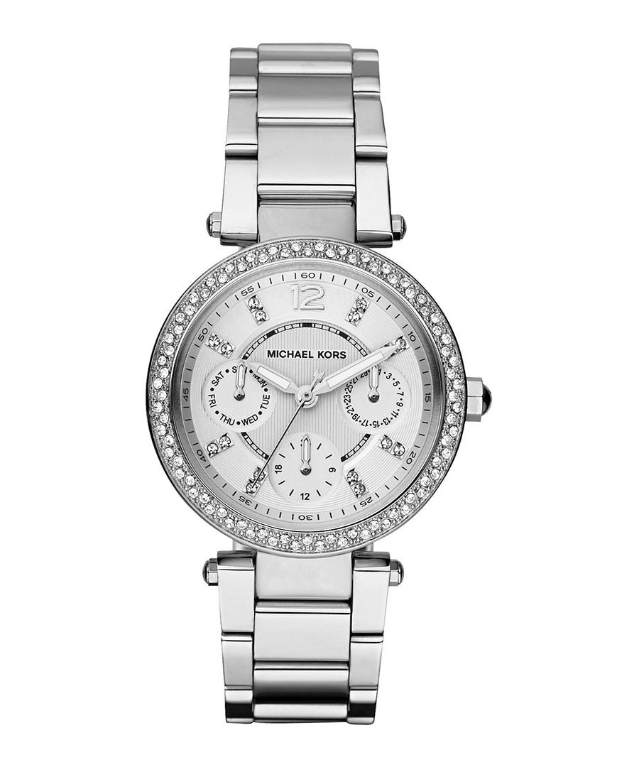 Parker silver-tone & crystal bezel watch Sale - michael kors
