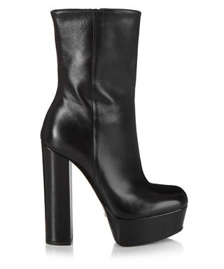 dc617e3071e Black leather platform boots Sale - Gucci Sale