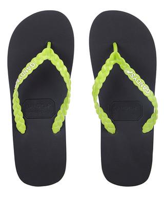 f3f5f14222890b Men s Lilypad black flip-flops Sale - Gandys Sale