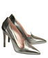 Silver-tone leather loafer high heels Sale - DE SIENA Sale