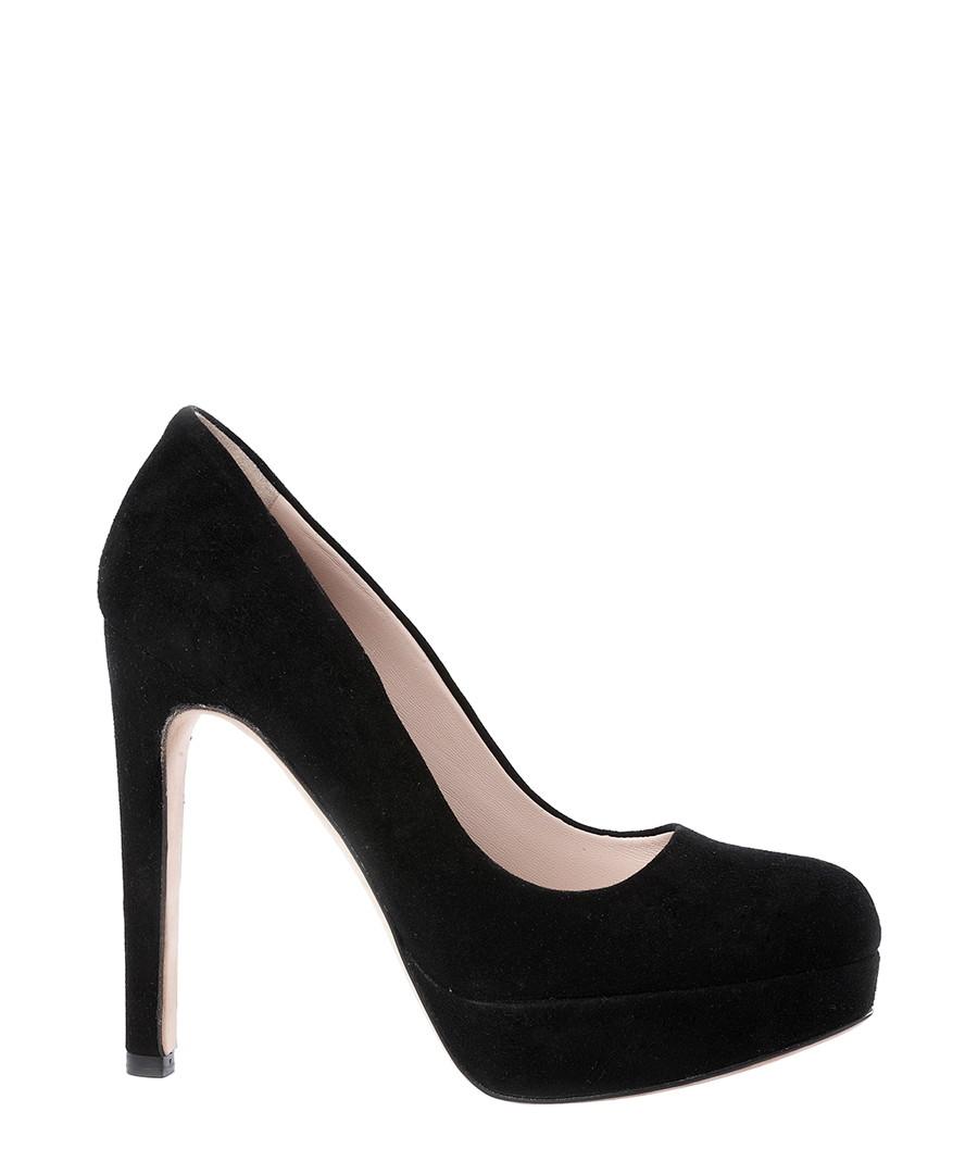 Black leather platform high heels Sale - DE SIENA
