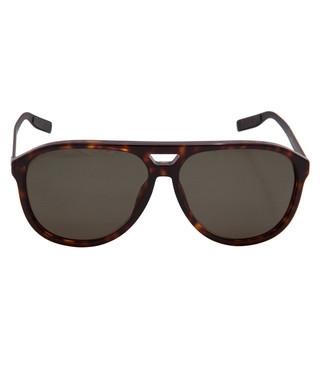 18d1b1ca6dc5 Christian Dior. Havana polarised aviator sunglasses