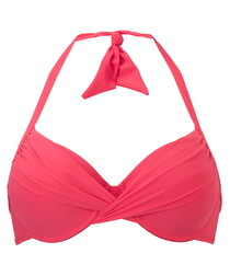Maracana coral padded bikini top