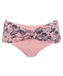 Lace print pink bikini bottoms