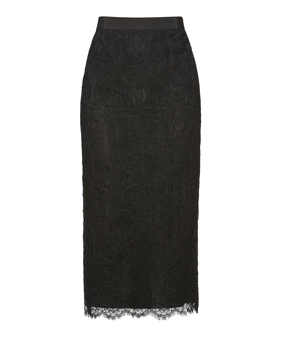Discount Black Lace Trim Skirt Secretsales