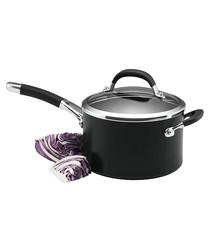 Black steel non-stick saucepan 3.8L