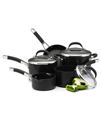 5pc black steel non-stick kitchen set