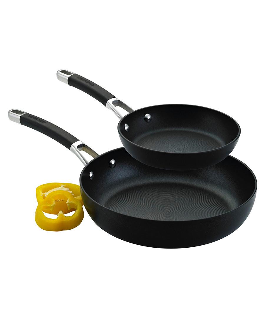 2pc black anodised frying pan set  Sale - Circulon