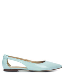 Lady Simple blue patent leather flats
