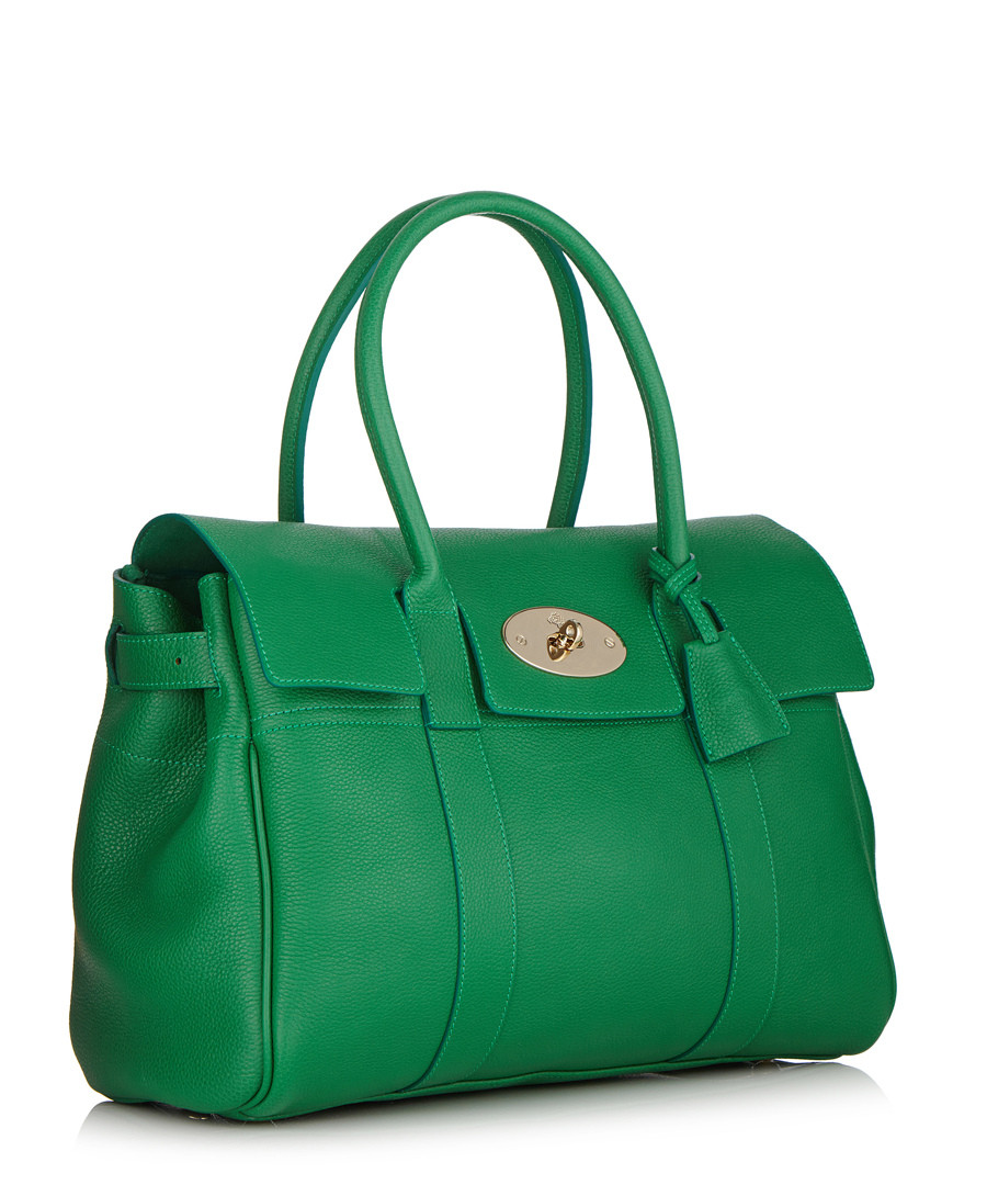73545c294fc9 ... ireland bayswater small green leather tote sale mulberry sale 7e920  72113