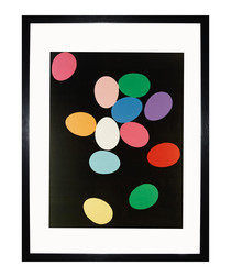 Eggs 1982 framed print