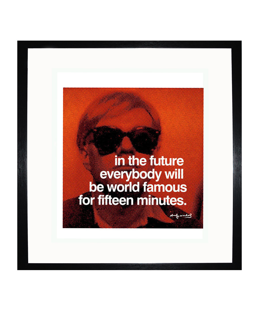 Fifteen Minutes framed print Sale - Andy Warhol