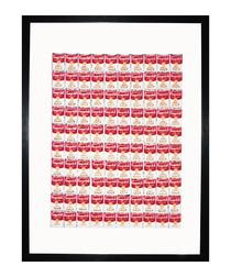 One Hundred Cans 1962 framed print