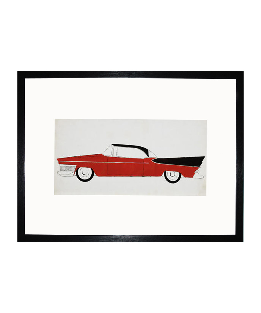 Red & Black Car framed print Sale - Andy Warhol