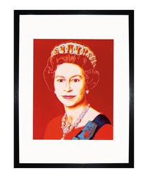 Queen Elizabeth II 1985 framed print