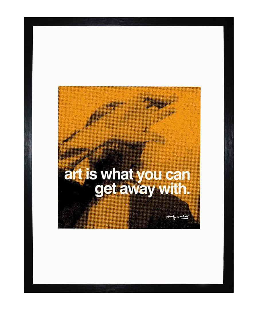 Art quote framed print Sale - Andy Warhol