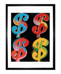 $4 1982 framed print